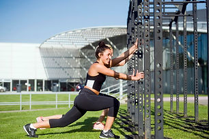 Fitness training outdoors