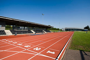 Outdoor athletics track