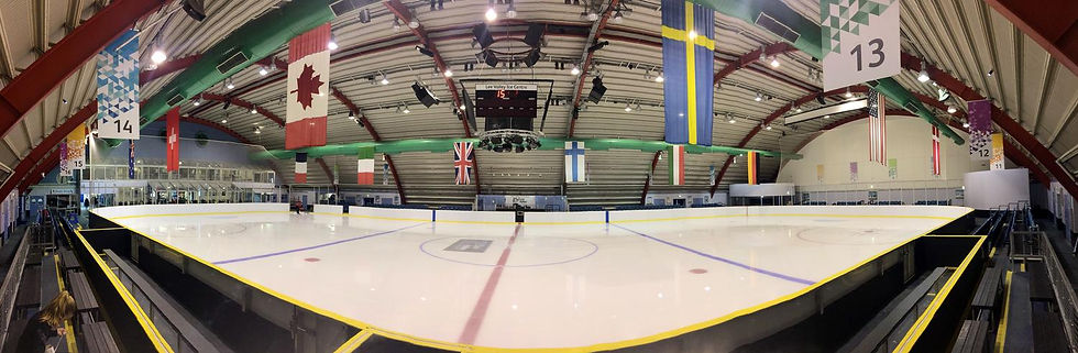 International sized ice rink at Lee Valley Ice Centre
