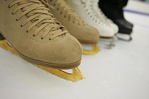 Close up of ice skates
