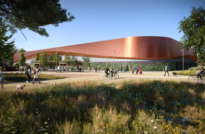 Artists impression of new ice centre