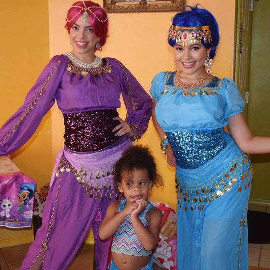 Orlando Party Characters - Shimmer and Shine Party