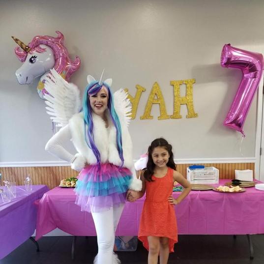 Orlando Party Characters - Uni the Unicorn