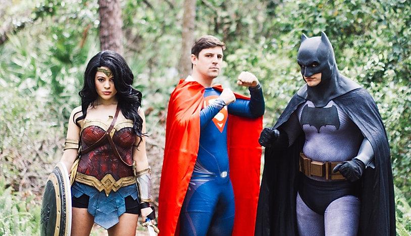 Superhero Birthday Parties, Wonder Woman, Superman, Batman