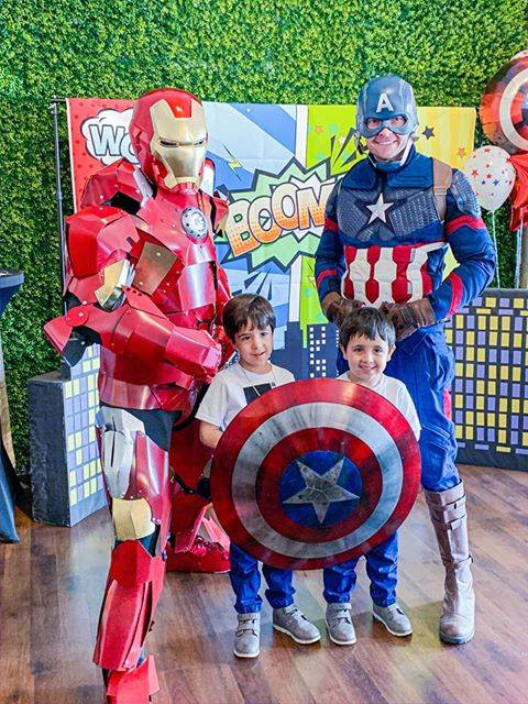 Avengers Superheroes Birthday Party with Captain America and Ironman