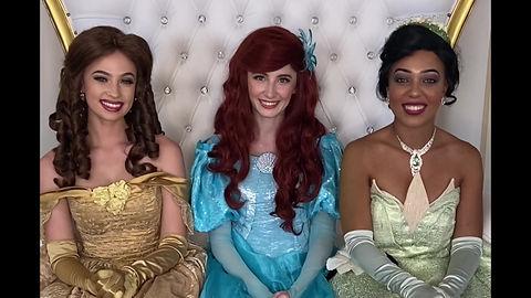 Orlando Princess Parties Princess Belle The Little Mermaid Ariel Princess Tiana The Princess and the Frog