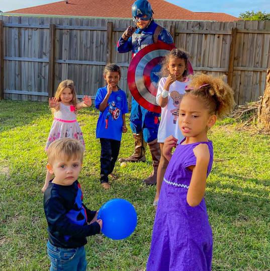 Orlando Superhero Parties - Captain America Party