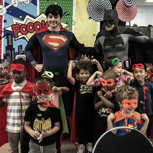 Orlando Superhero Parties - Superman and Batman Party