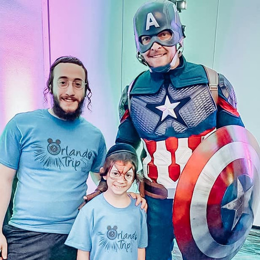 Orlando Superhero Parties - Captain America Party
