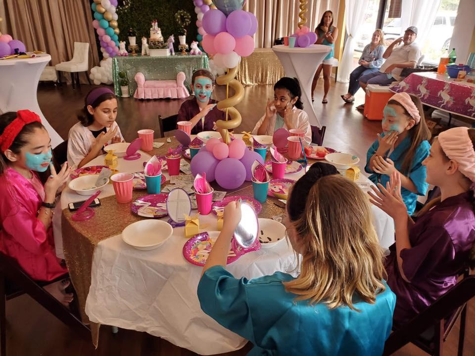Unicorn Spa Birthday Party
