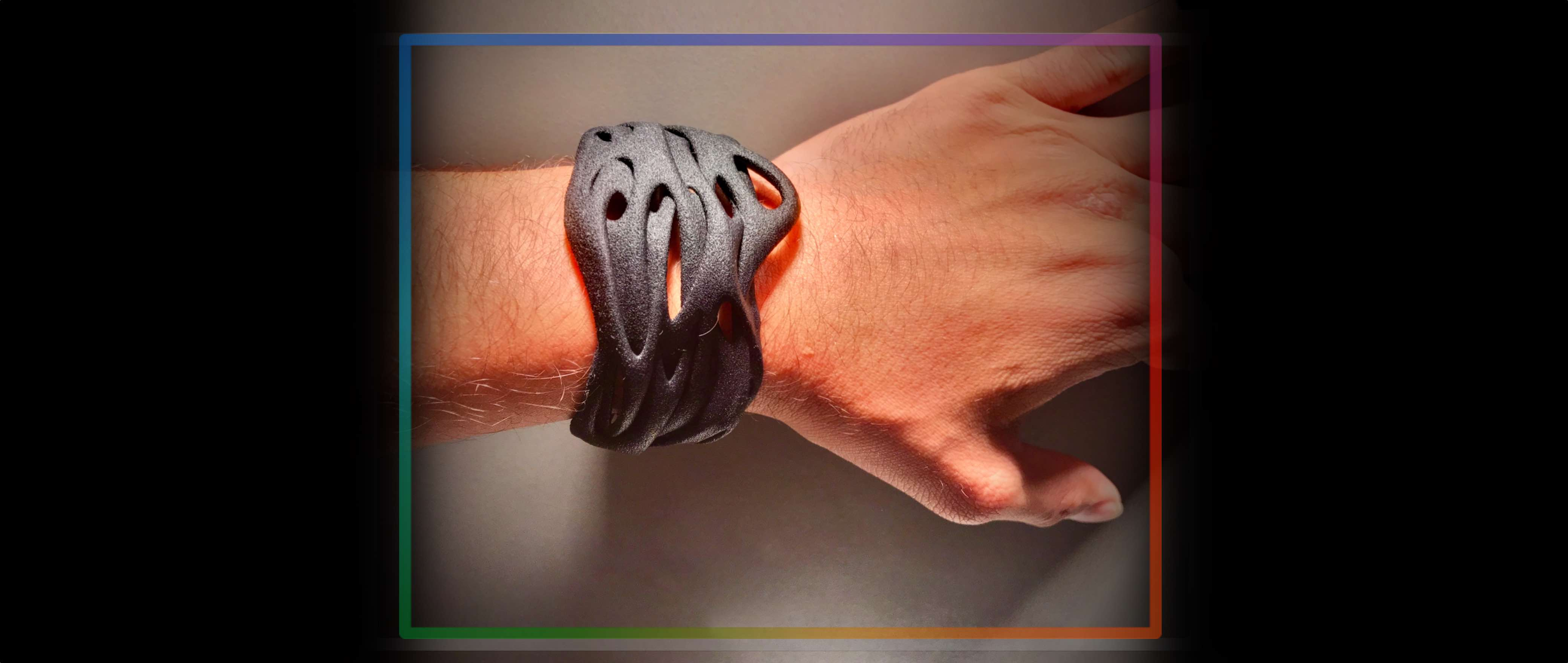 Audio man 3d bracelet banner