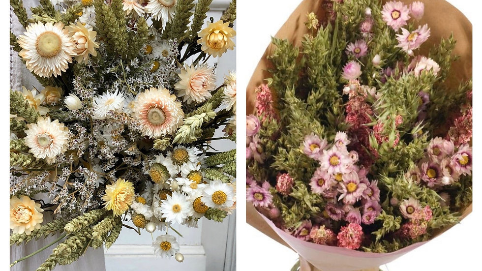 Bouquet fleurs séchées