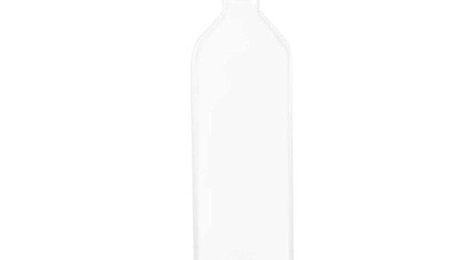 Bouteille en verre avec objet