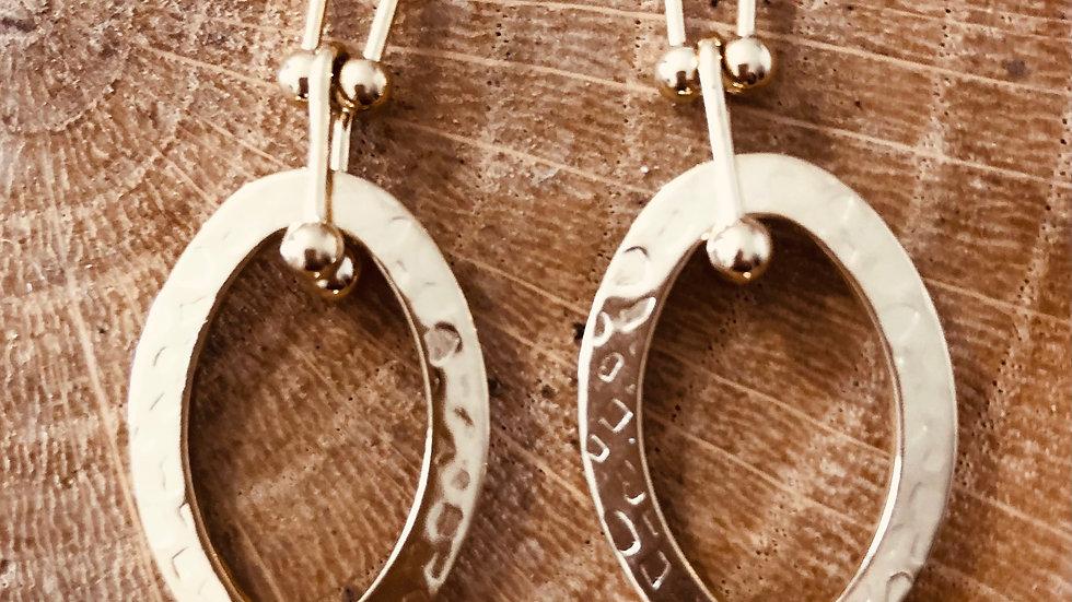 Boucles d'oreilles acier Ref 324