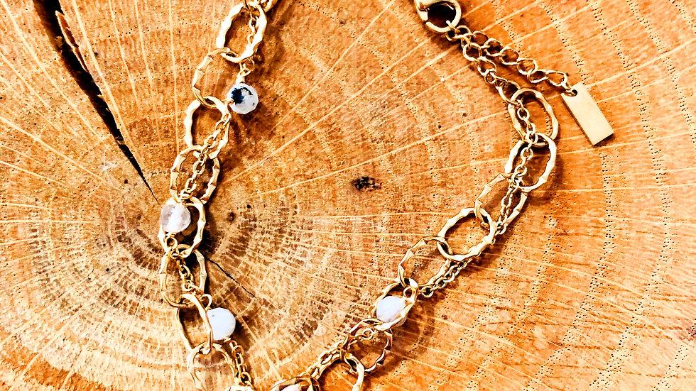 Bracelet  acier 2 rangs Ref 303