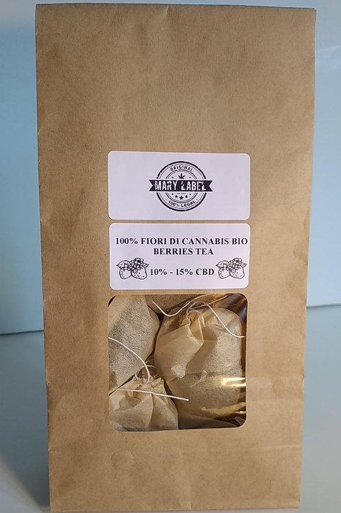 TEA BERRIES MARY LABEL - 100% FIORI DI CANAPA BIO - 10%-15% CBD