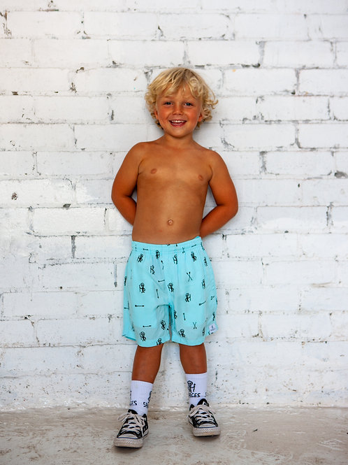 Warrior Party Shorts// Blue