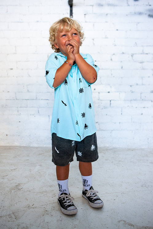 Pirate Party Shirt// Blue