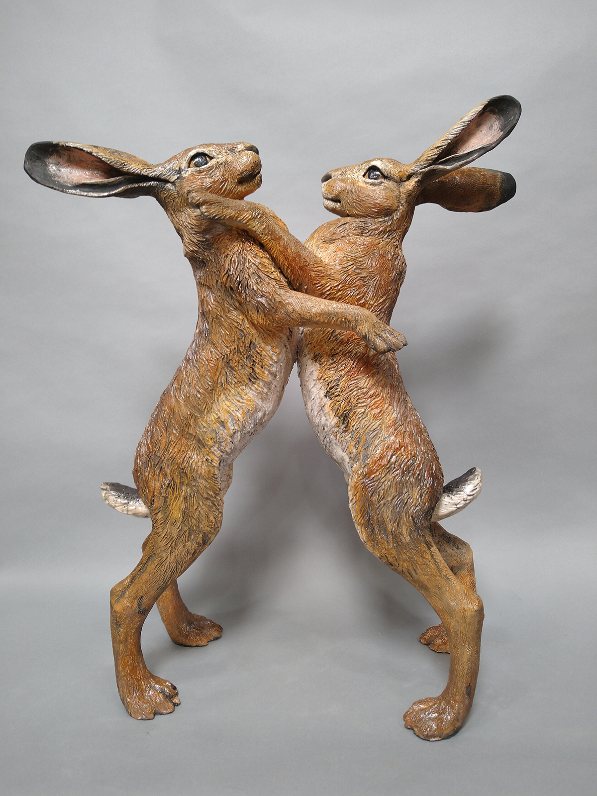 Sallie Wakley - Boxing Hares