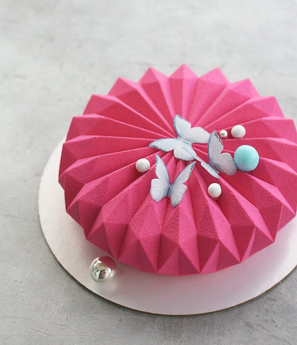 """Торт на 6-8 человек (форма """"оригами"""" в минимализме)"""