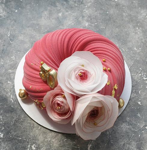 Торт на 10-12 человек, Плетение с вафельными цветами