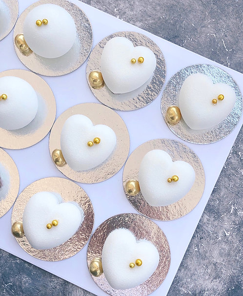 Набор муссовых пирожных (10 шт), можно другую начинку, чем в торте