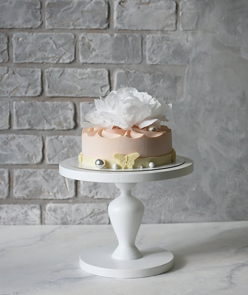 Торт на 6-8 человек с вафельным цветком