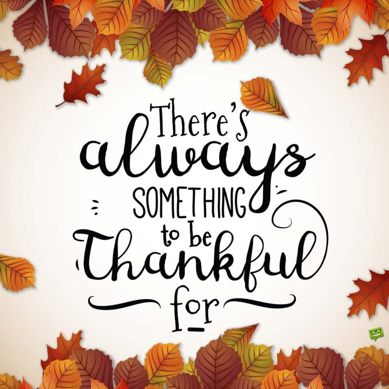 Thankful for Thanksgiving