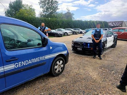 Barricade France et Gendarmes Cerny 2020