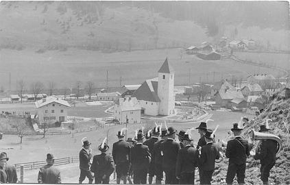 TMK Eben 1956 mit Blick auf Eben im Pongau