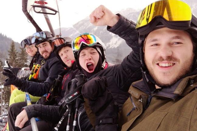 Unsere diesjährige Gruppe bei den Skimeisterschaften des SBV in Flachau