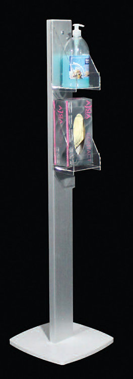 Colonna US HYGEN 2 tasche profilo rettangolare 10 cm