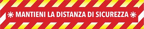 Adesivo Distanza di Sicurezza 20x100 cm - virus
