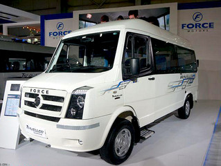 13 seat Fixed glass AC Force Tempo Traveller Rental in Trivandrum