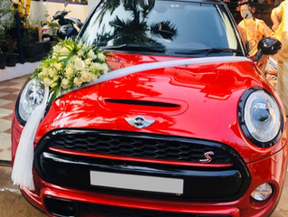 Mini Cooper Wedding Car Rental in Trivandrum