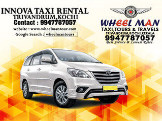 InnovaTaxi Rental in Trivandrum,Kochi