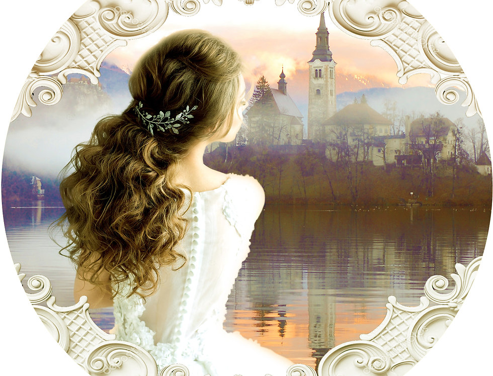 Historical Romance Vella Cover Woman and Castle