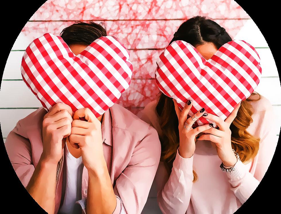 Premade Contemporary Romance Vella Cover valentine hearts