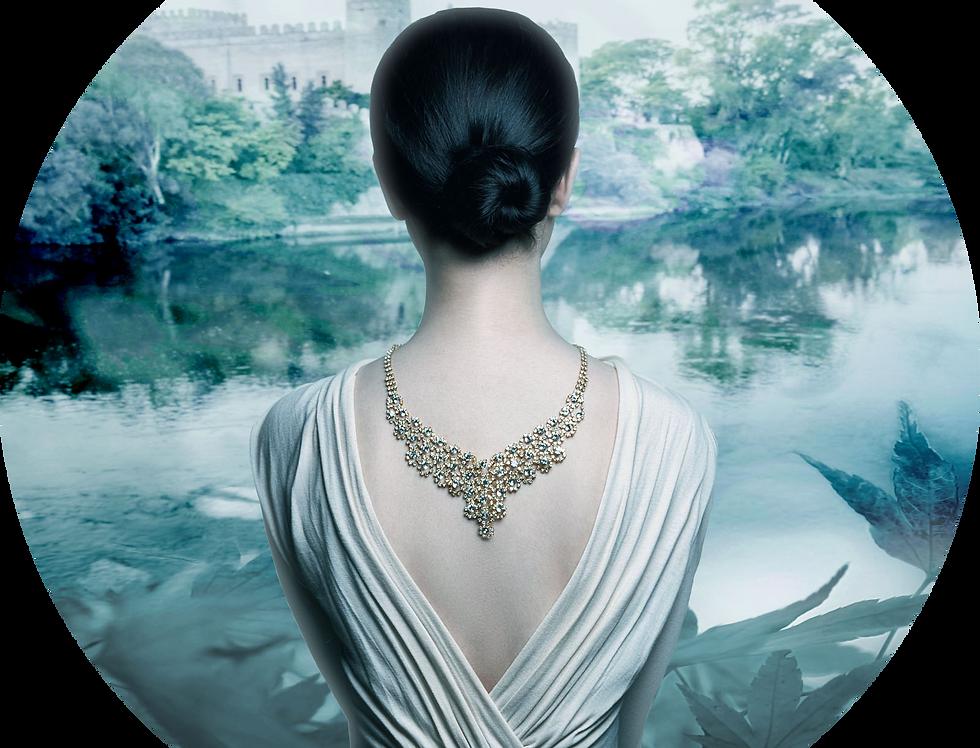 Premade Historical Romance Vella Cover Woman and Castle