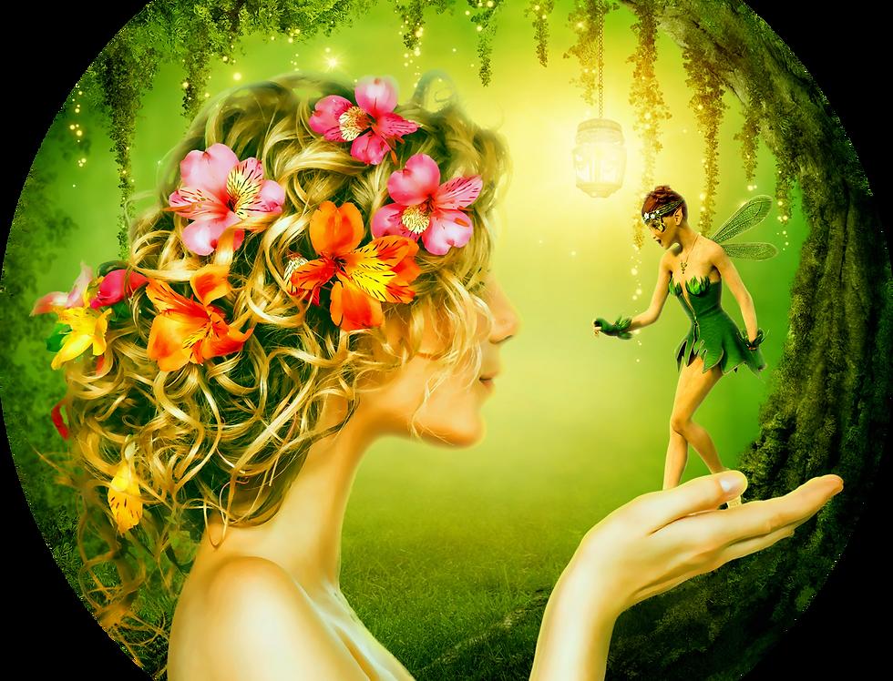 Premade Fantasy vella cover with fairy