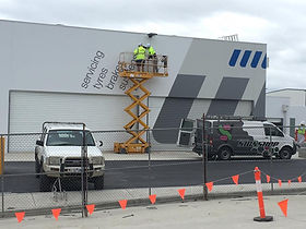 Albury Wodonga Signshop installation and sign writing