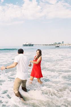 Malibu Pier engagement session