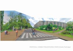 loopvriendelijke entree ingang Duden park_Track-Landscapes