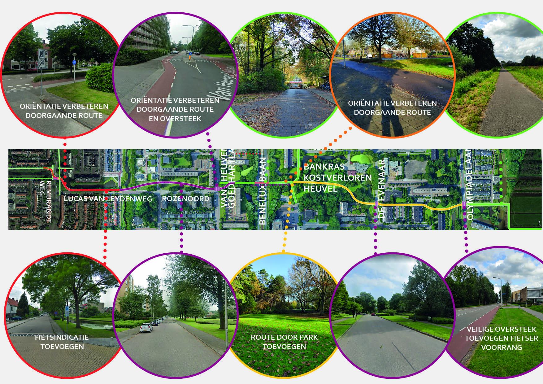 amstelveen fietsroute looproute verbeteringen