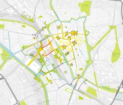 bestaande looproutes en fietsroutes rond utrecht centraal_track-landscapes