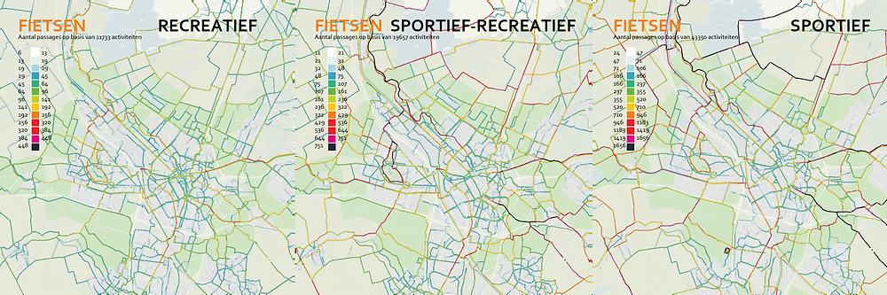 Fietsdata activity tracker Endomondo recreatief en sportief fietsen