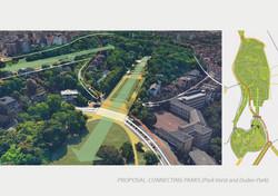 Voorstel verbinding Park van Vorst en Dudenpark