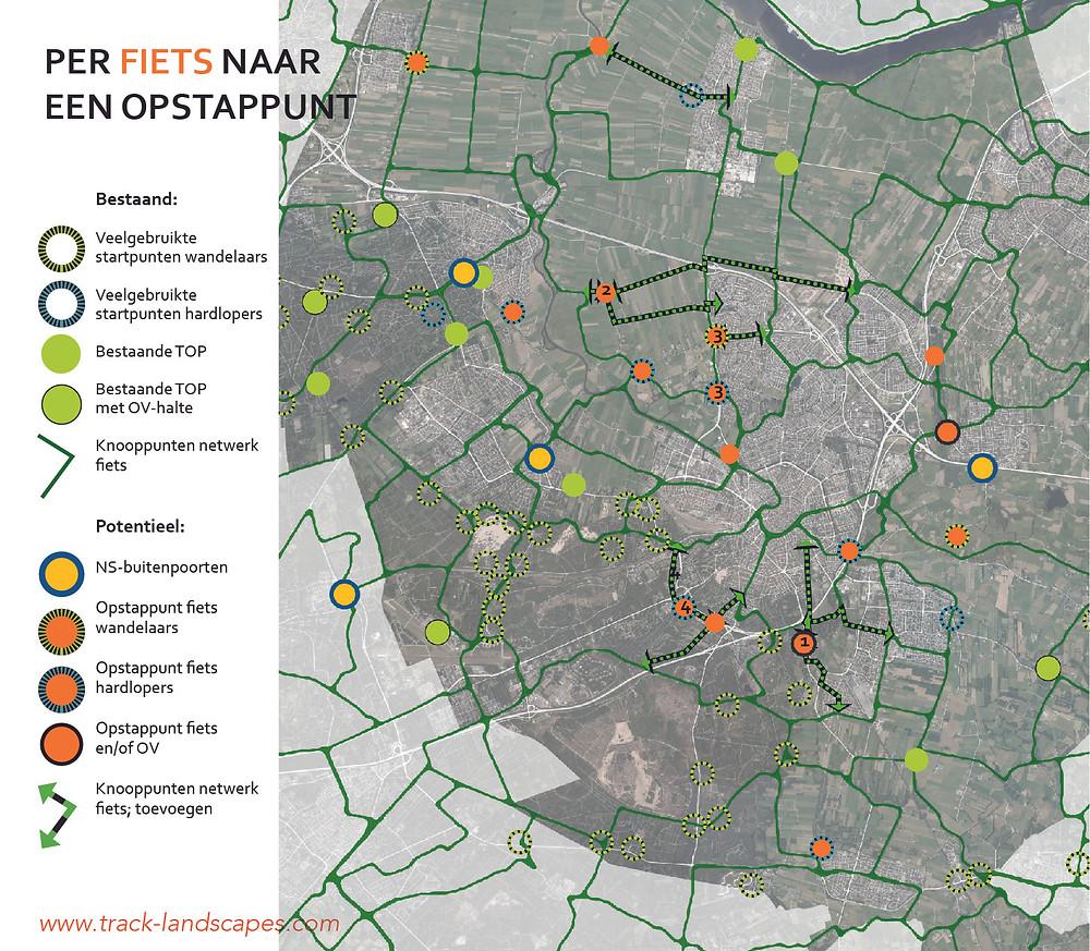 recreatie en natuur; met de fiets naar natuurgebieden om de stad om de stad