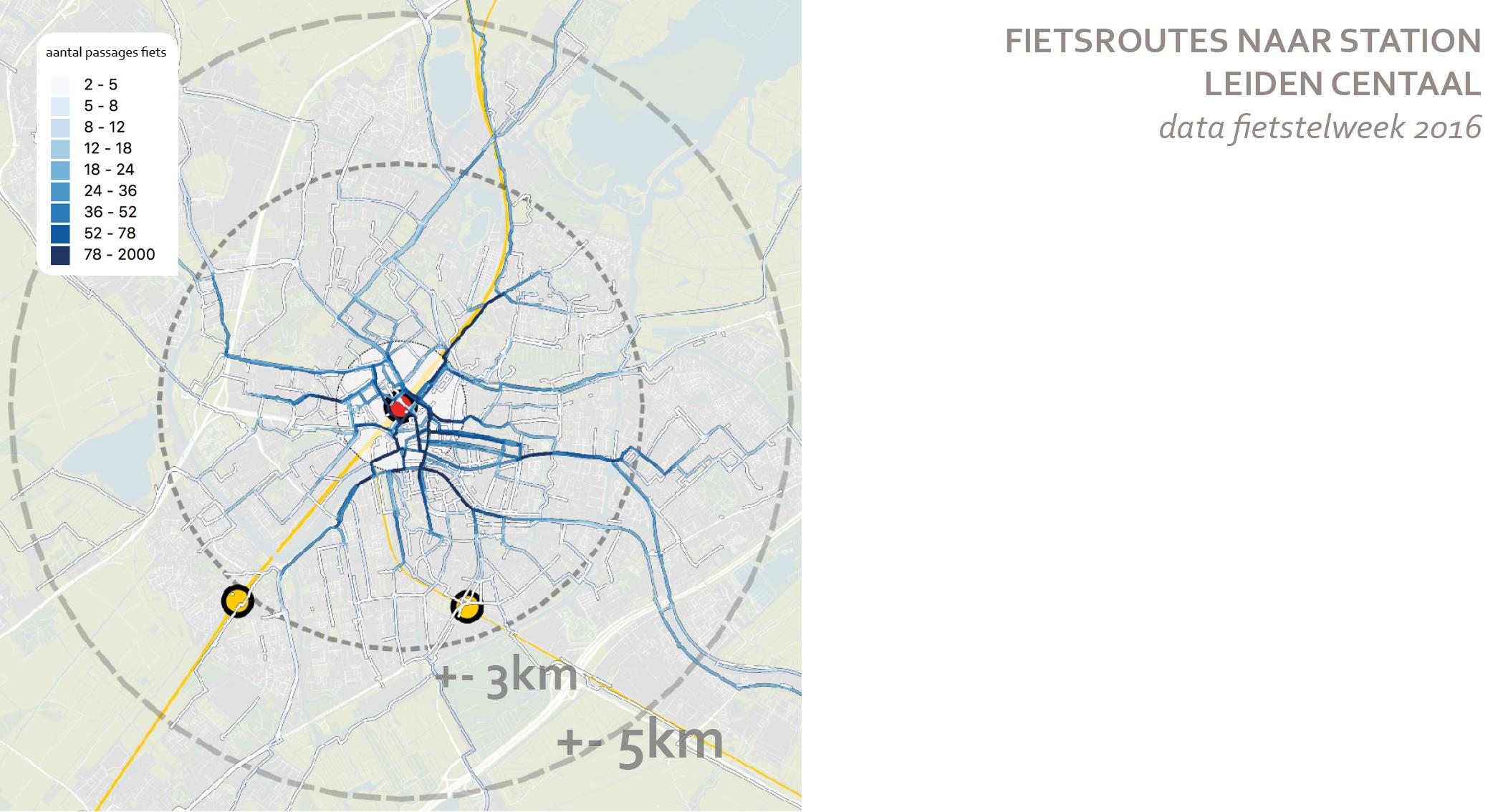 fietsroutes naar stations leiden centraal fietsdata