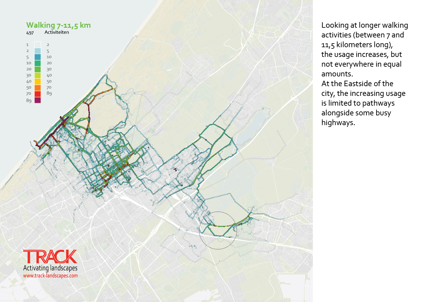 The Hague walking data